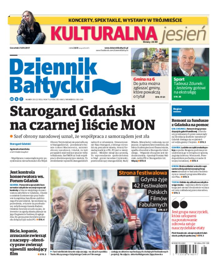 Dziennik Bałtycki -                     2017-09-21