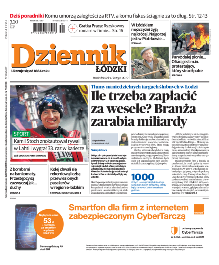Dziennik Łódzki -                     2019-02-11