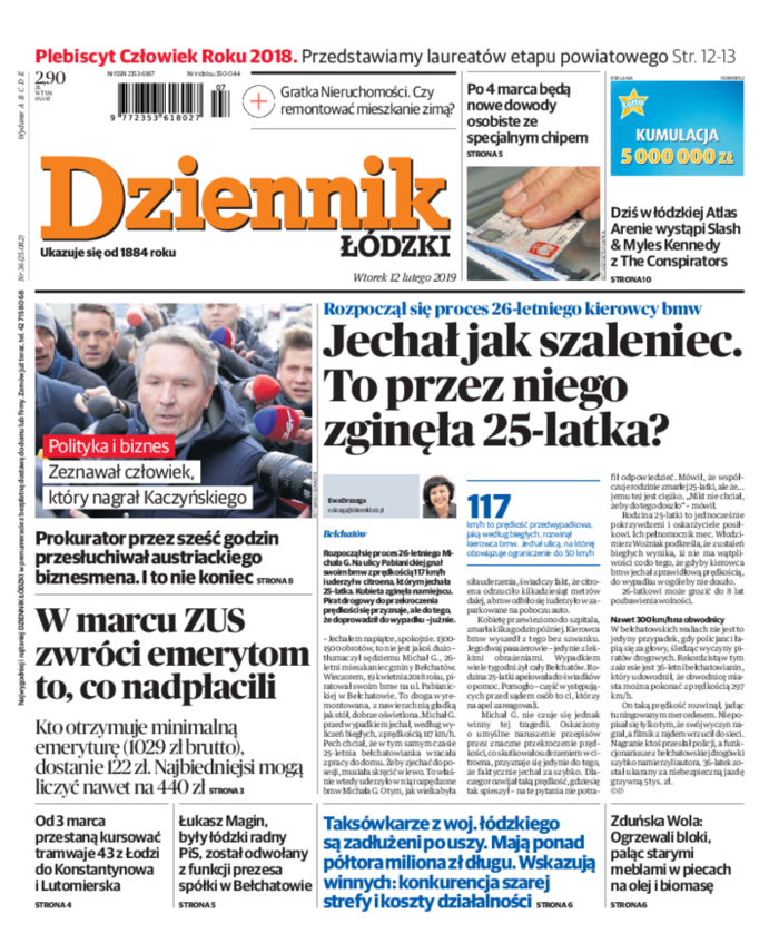 Dziennik Łódzki -                     2019-02-12