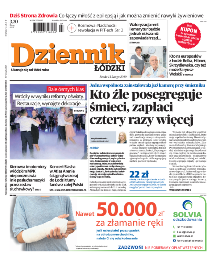 Dziennik Łódzki -                     2019-02-13