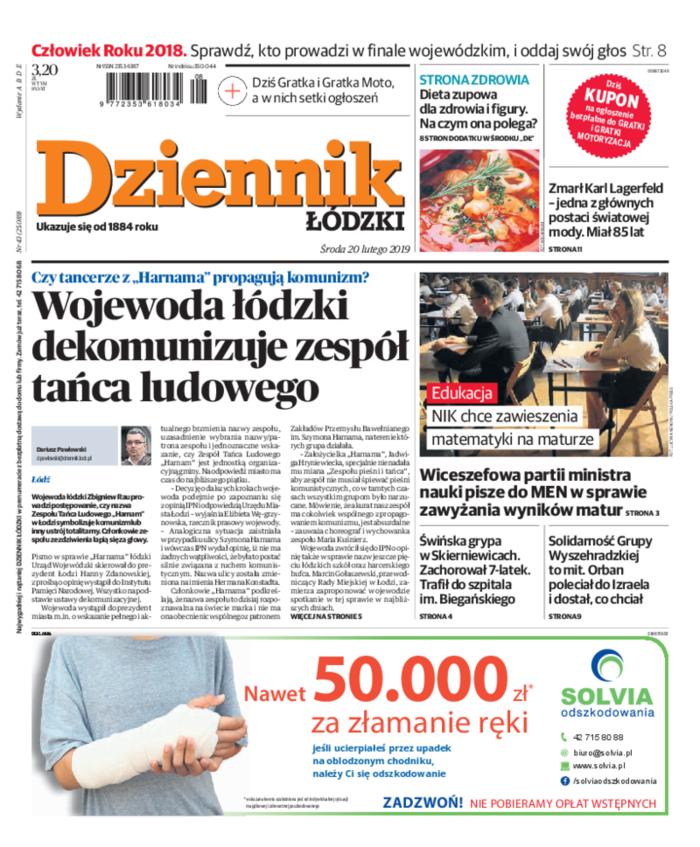 Dziennik Łódzki -                     2019-02-20