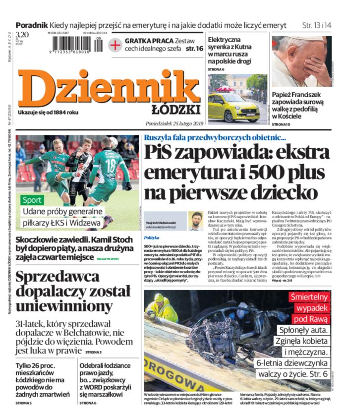 Dziennik Łódzki -                     2019-02-25