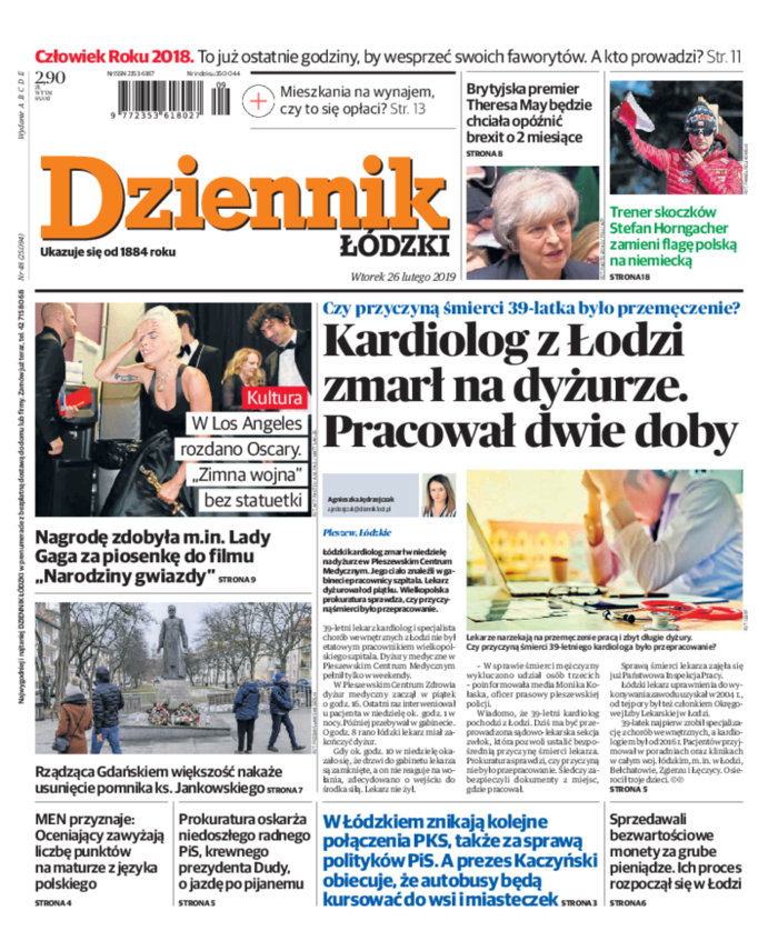 Dziennik Łódzki -                     2019-02-26