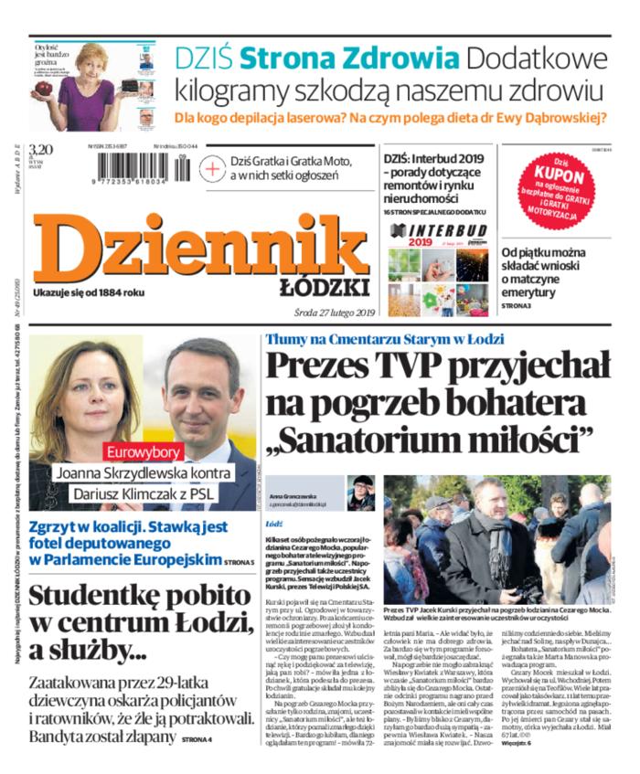 Dziennik Łódzki -                     2019-02-27