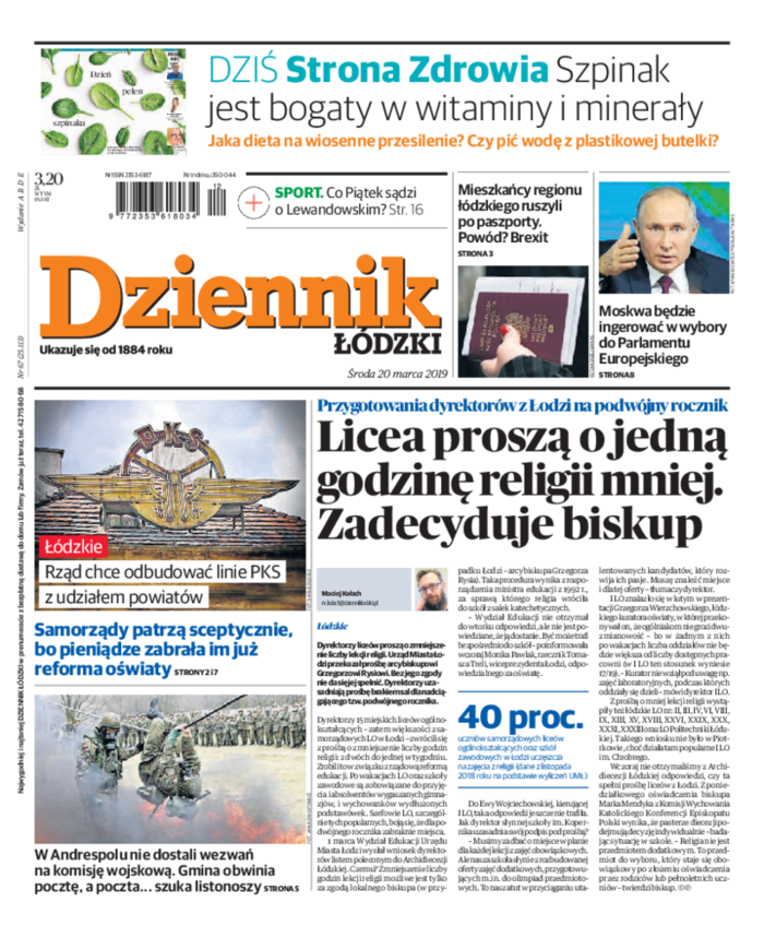 Dziennik Łódzki -                     2019-03-20