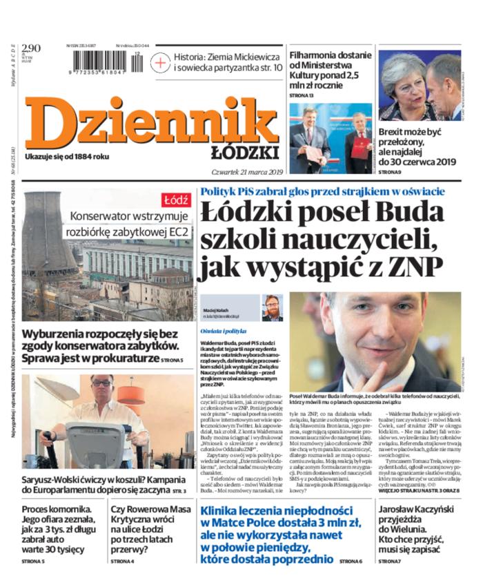 Dziennik Łódzki -                     2019-03-21