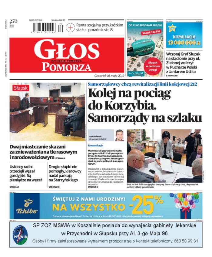 Głos - Dziennik Pomorza -                     2019-05-16