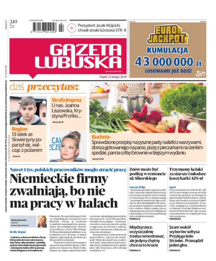 Gazeta Lubuska -                     2019-02-15