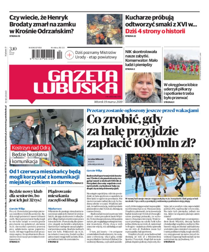 Gazeta Lubuska -                     2019-03-19