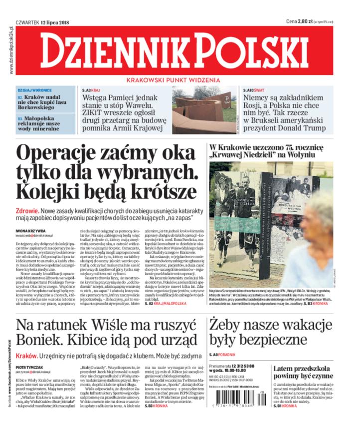 Dziennik Polski -                     2018-07-12
