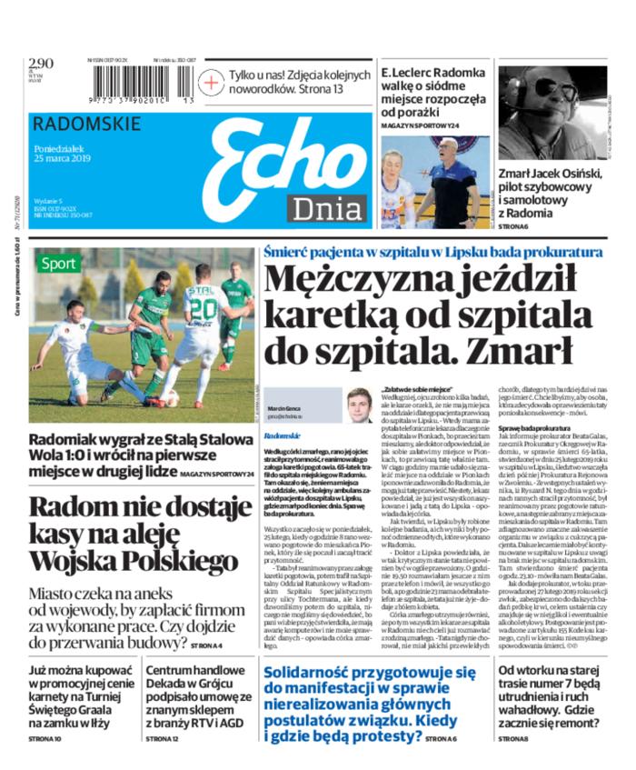 Echo Dnia -                     2019-03-25
