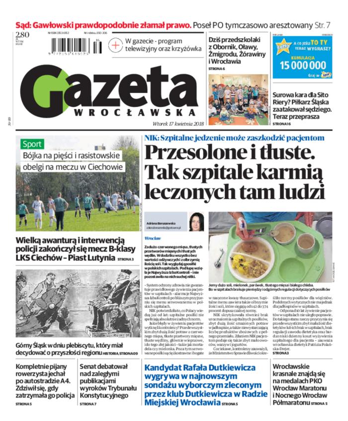 Gazeta Wrocławska -                     2018-04-17