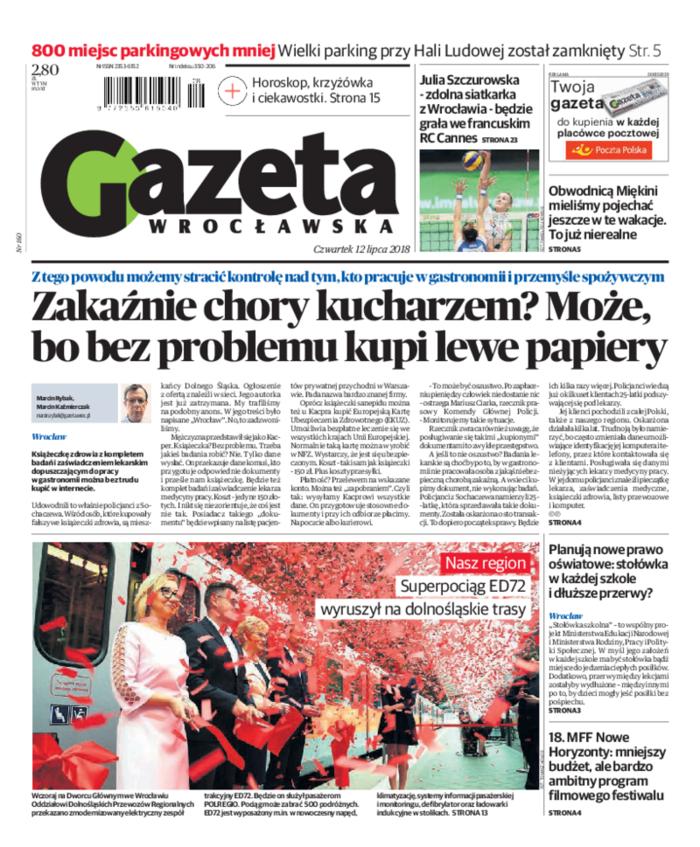 Gazeta Wrocławska -                     2018-07-12