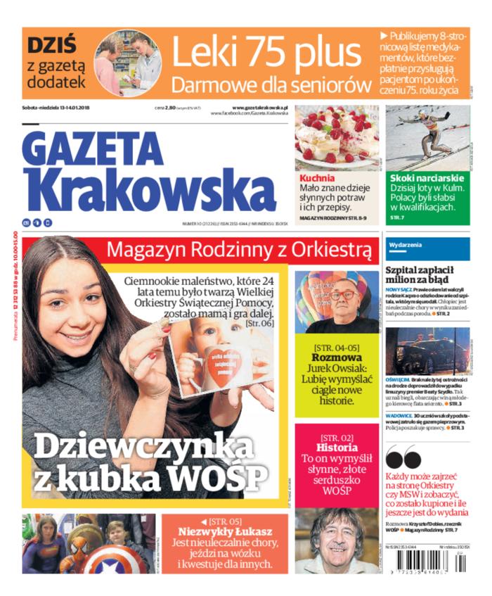 Gazeta Krakowska -                     2018-01-13