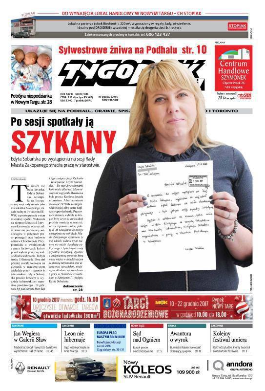 Tygodnik Podhalański -                     49/2017