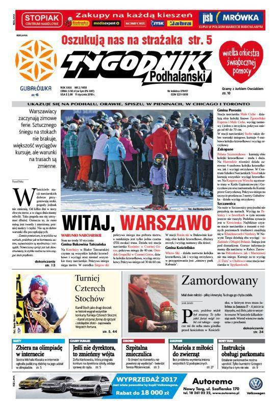 Tygodnik Podhalański -                     2/2018