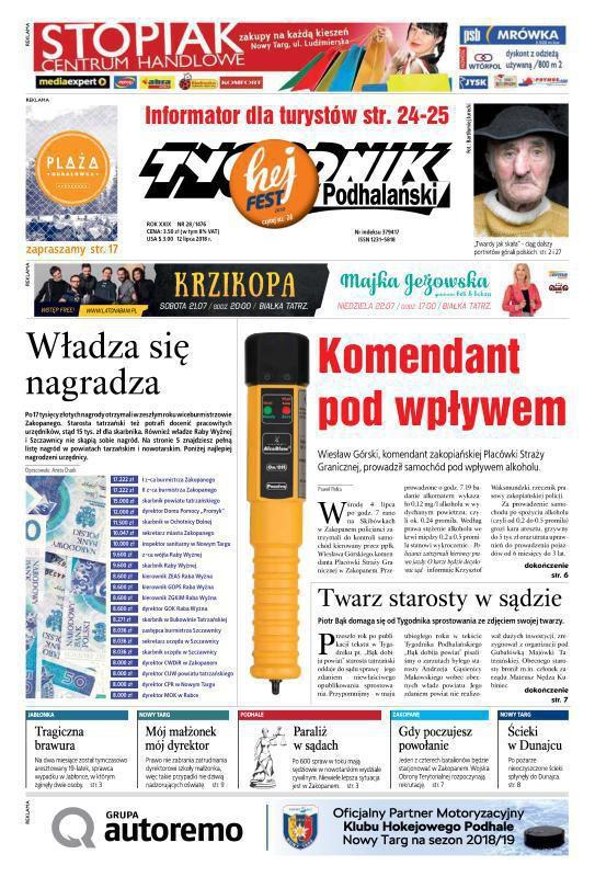 Tygodnik Podhalański -                     28/2018