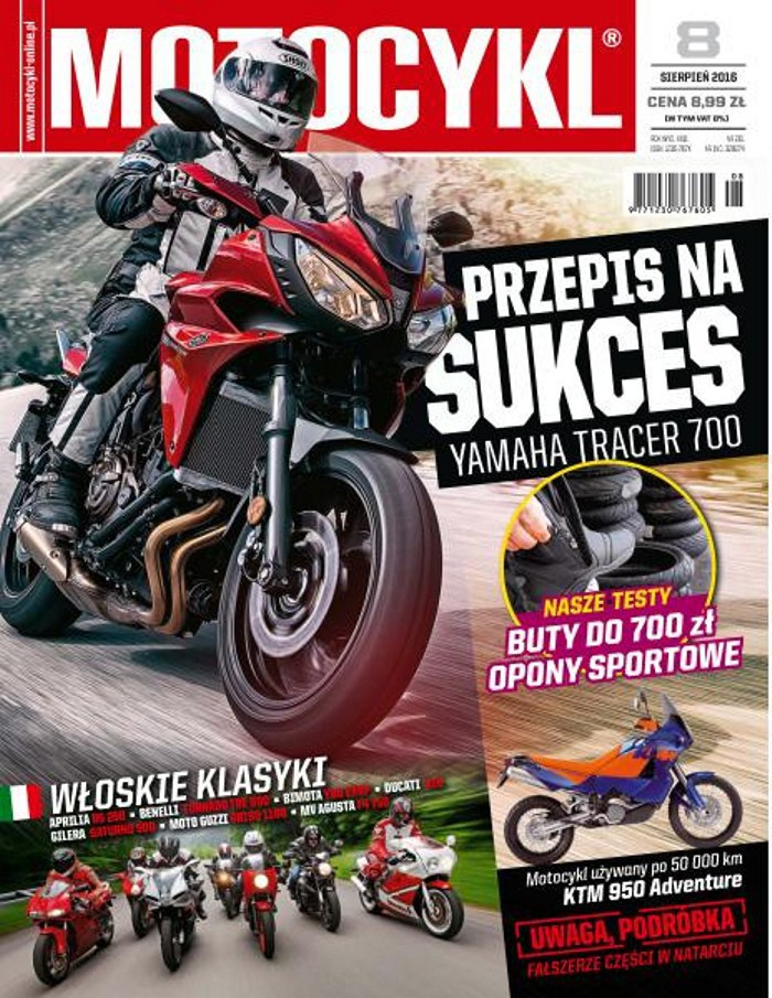 Motocykl -                     8/2016