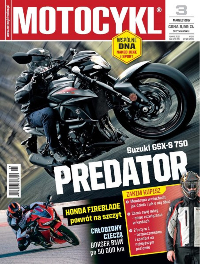 Motocykl -                     3/2017