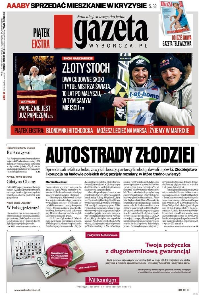 Gazeta Wyborcza -                     2013-03-01