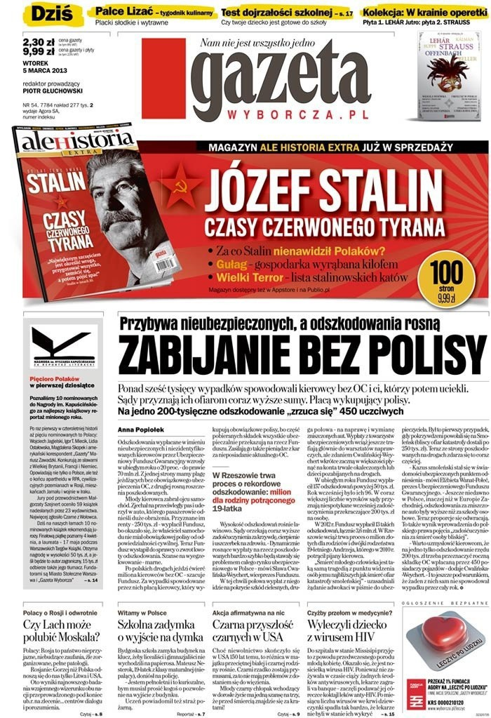 Gazeta Wyborcza -                     2013-03-05