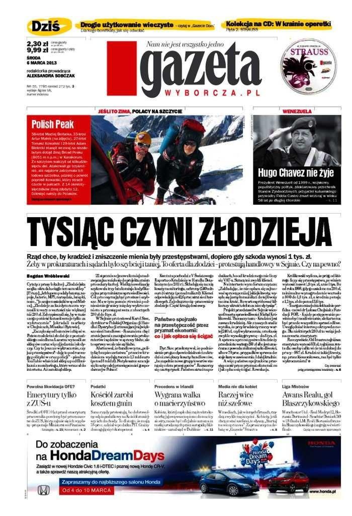 Gazeta Wyborcza -                     2013-03-06