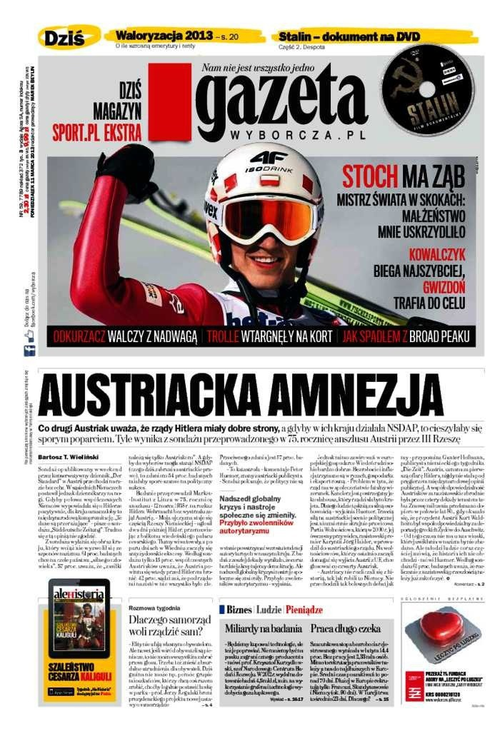 Gazeta Wyborcza -                     2013-03-11