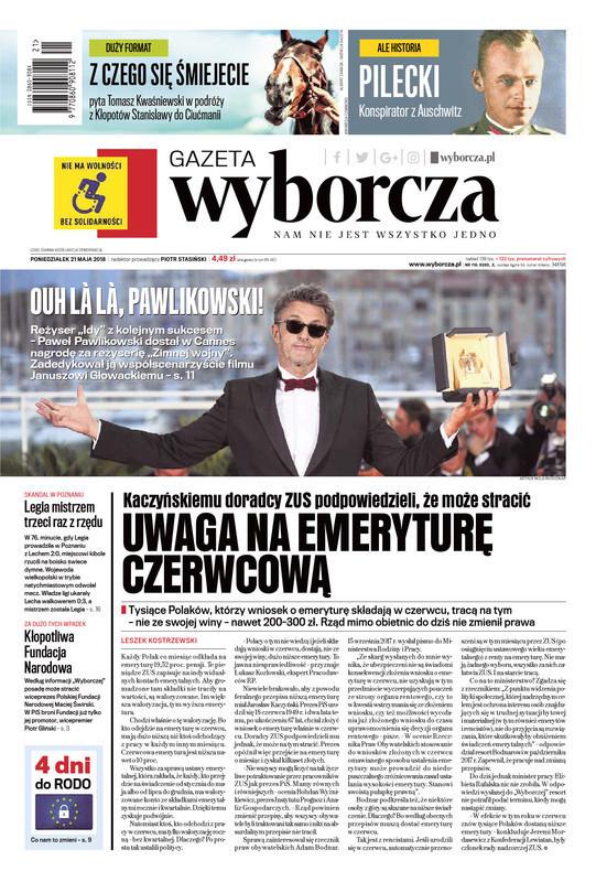 Gazeta Wyborcza -                     2018-05-21