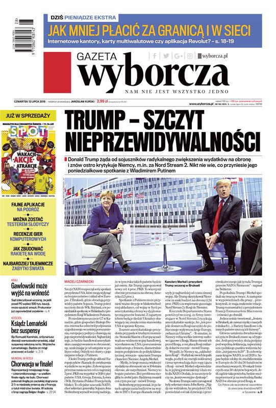 Gazeta Wyborcza -                     2018-07-12
