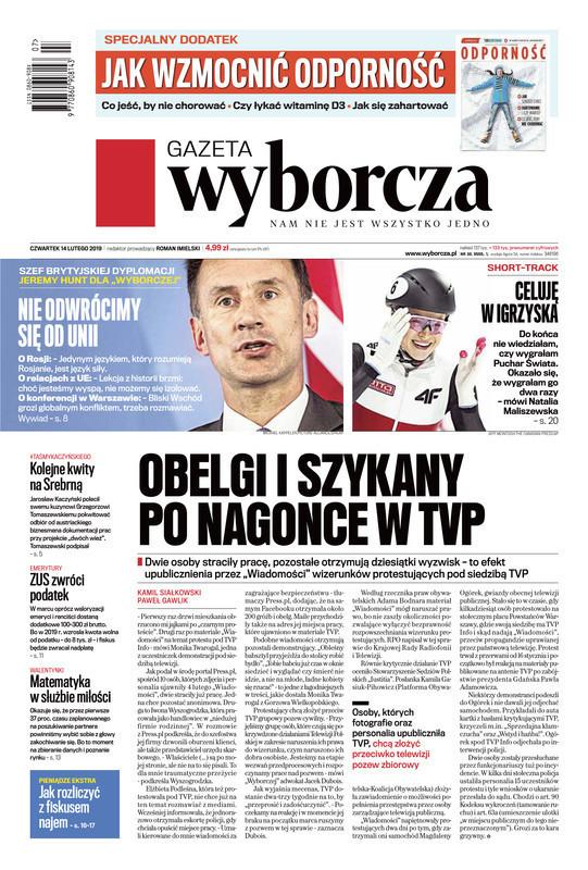 Gazeta Wyborcza -                     2019-02-14