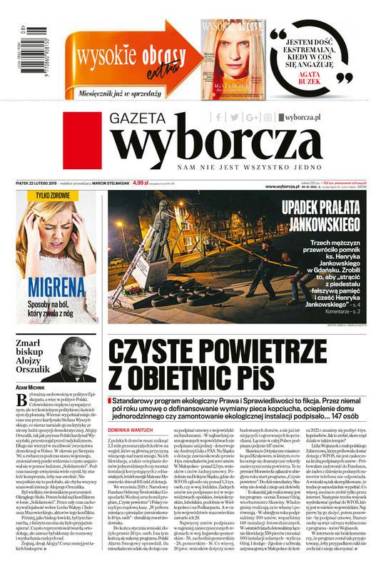 Gazeta Wyborcza -                     2019-02-22