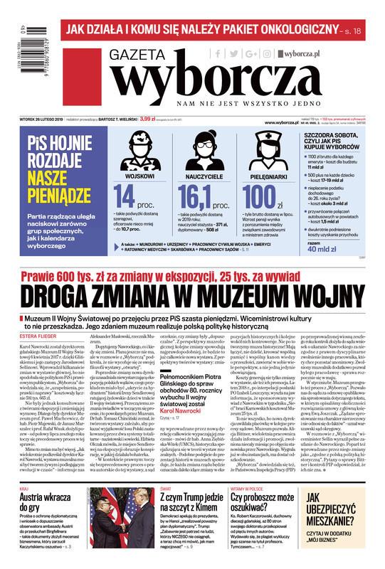 Gazeta Wyborcza -                     2019-02-26