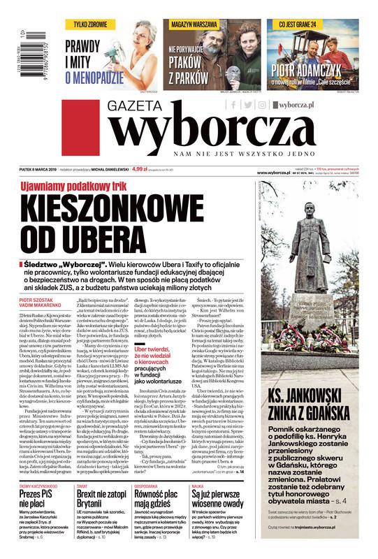 Gazeta Wyborcza -                     2019-03-08