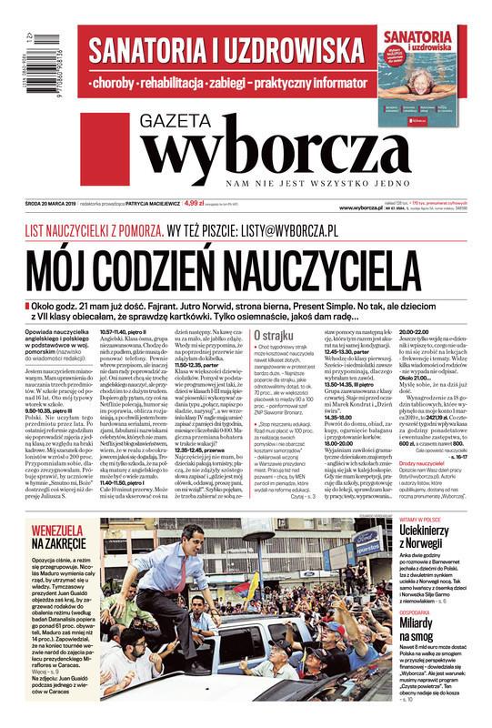 Gazeta Wyborcza -                     2019-03-20