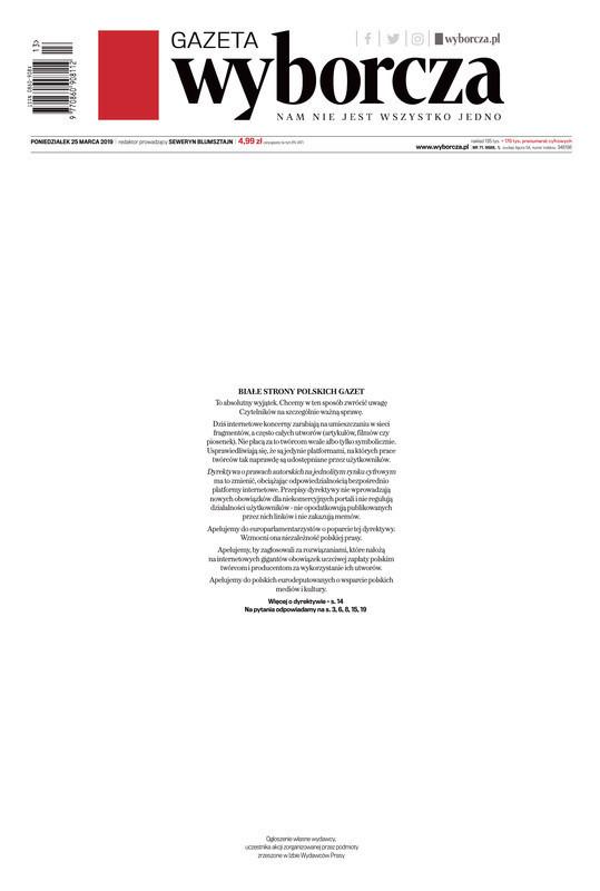 Gazeta Wyborcza -                     2019-03-25