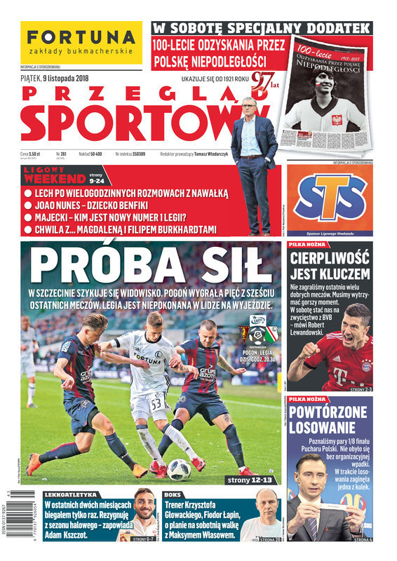 Przegląd Sportowy -                     2018-11-09