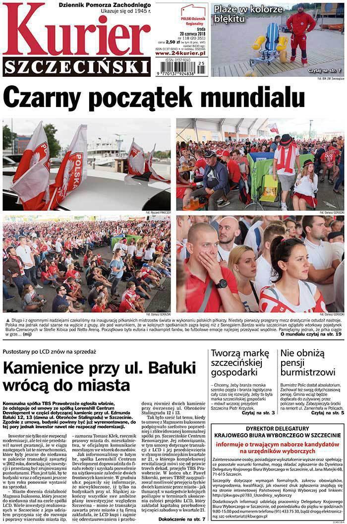 Kurier Szczeciński -                     2018-06-20
