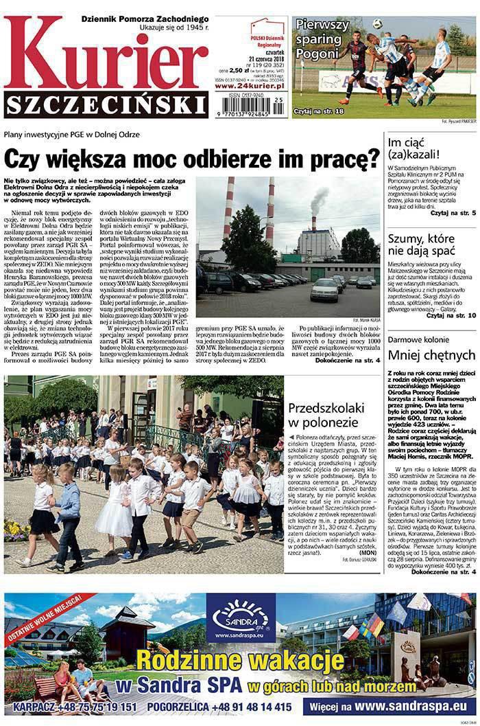 Kurier Szczeciński -                     2018-06-21