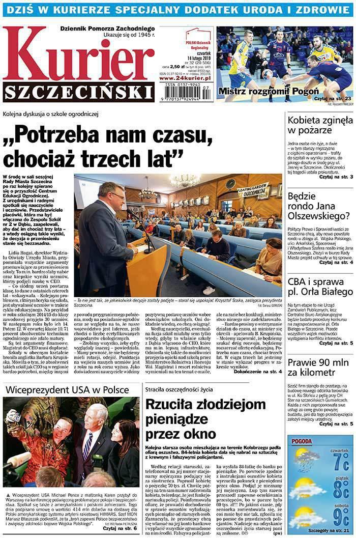 Kurier Szczeciński -                     2019-02-14