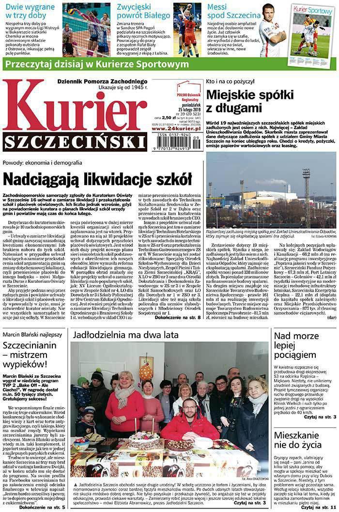 Kurier Szczeciński -                     2019-02-25