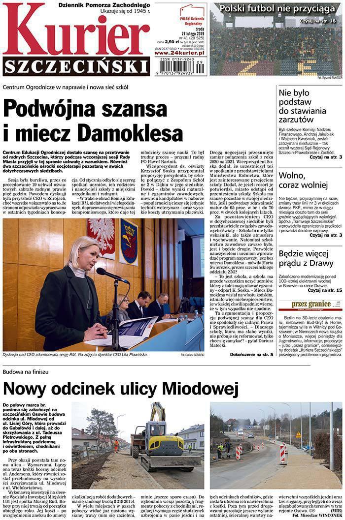Kurier Szczeciński -                     2019-02-27