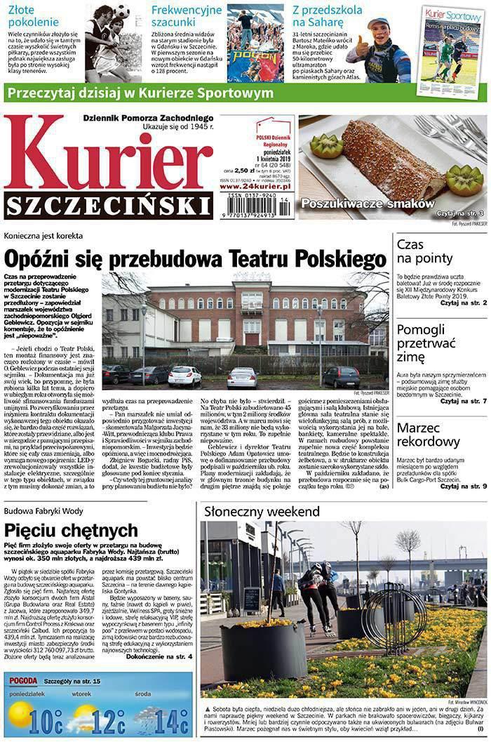 Kurier Szczeciński -                     2019-04-01