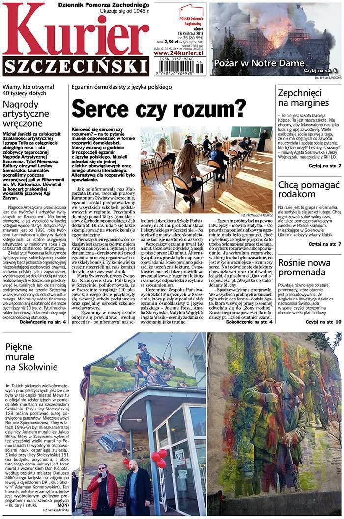 Kurier Szczeciński -                     2019-04-16