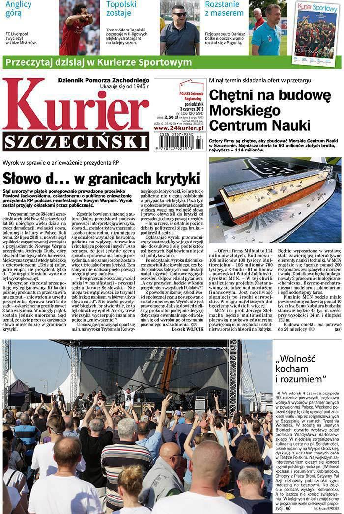Kurier Szczeciński -                     2019-06-03