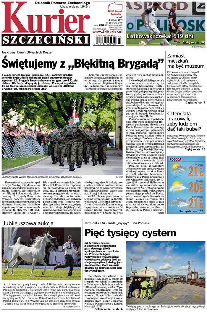 Kurier Szczeciński -                     2019-08-13