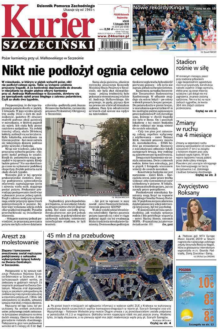 Kurier Szczeciński -                     2019-11-05
