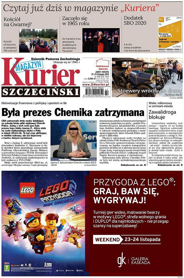 Kurier Szczeciński -                     2019-11-22
