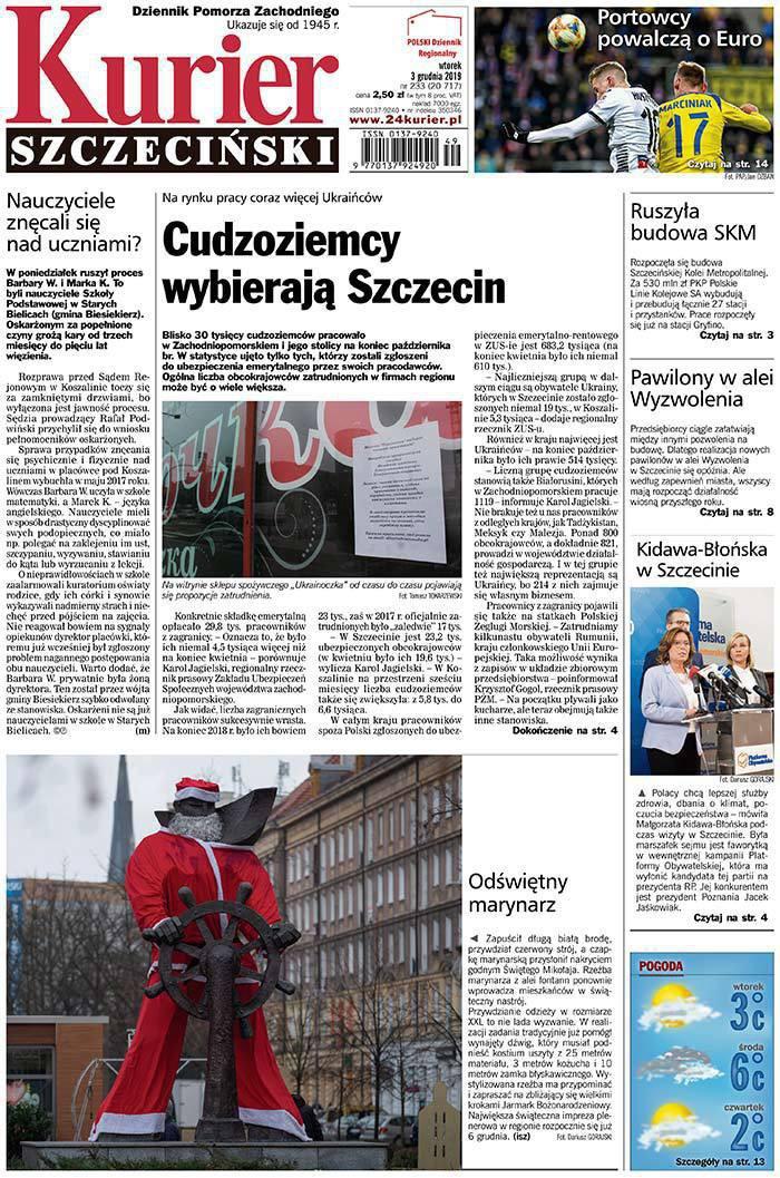 Kurier Szczeciński -                     2019-12-03