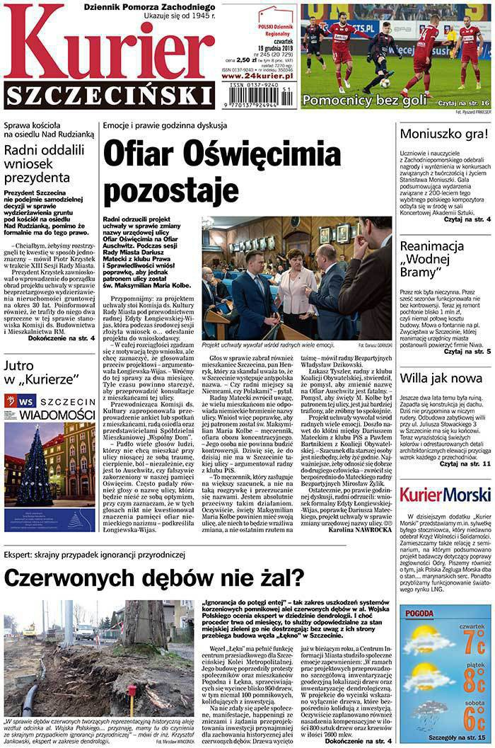 Kurier Szczeciński -                     2019-12-20