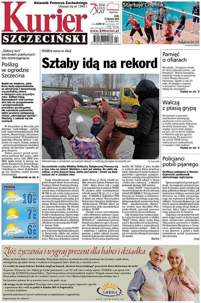 Kurier Szczeciński -                     2020-01-15